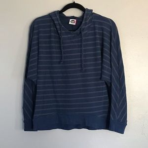 Roxy Striped Cropped Hoodie